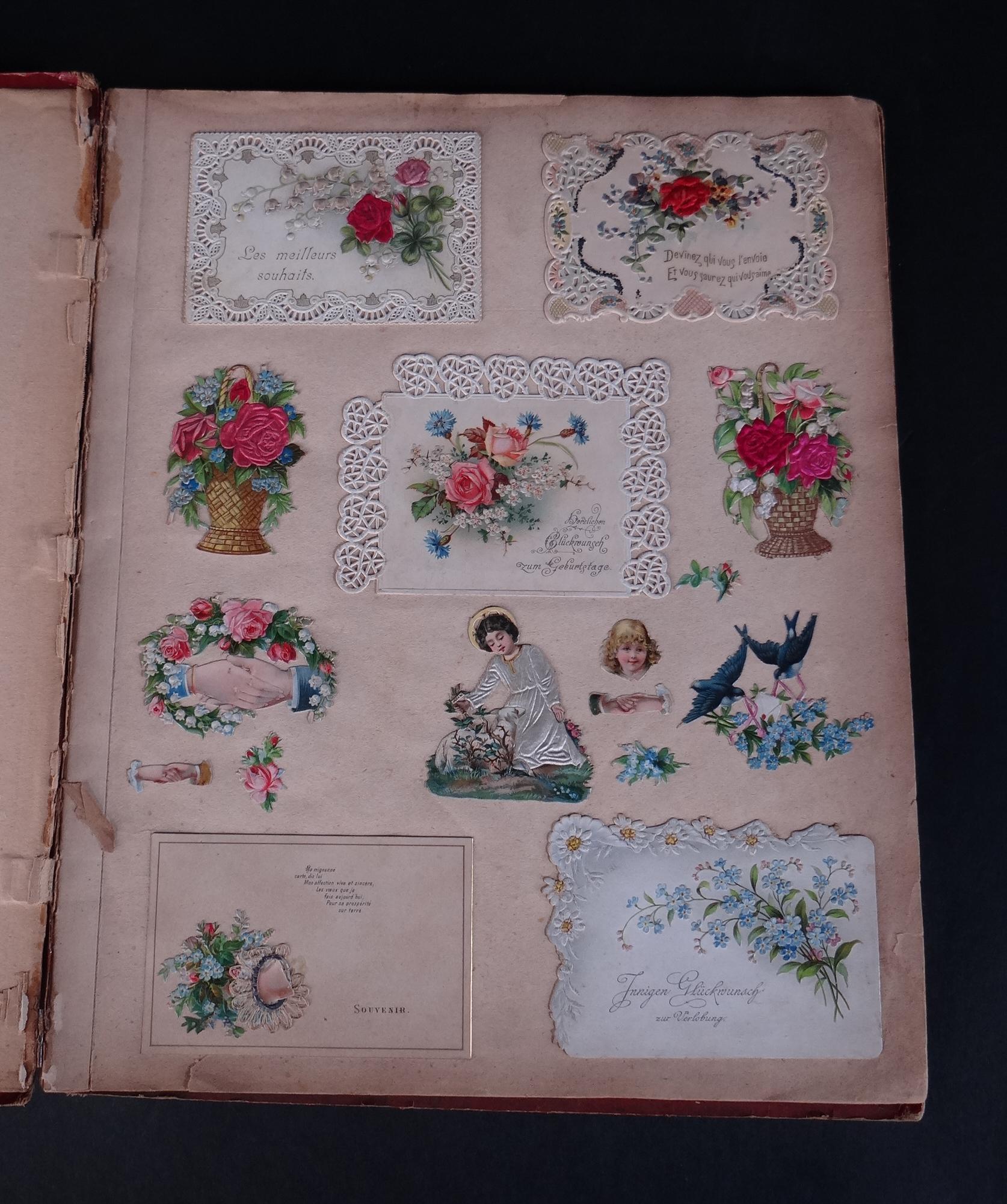 collection album cartes d corations anciennes pour cartes postales. Black Bedroom Furniture Sets. Home Design Ideas