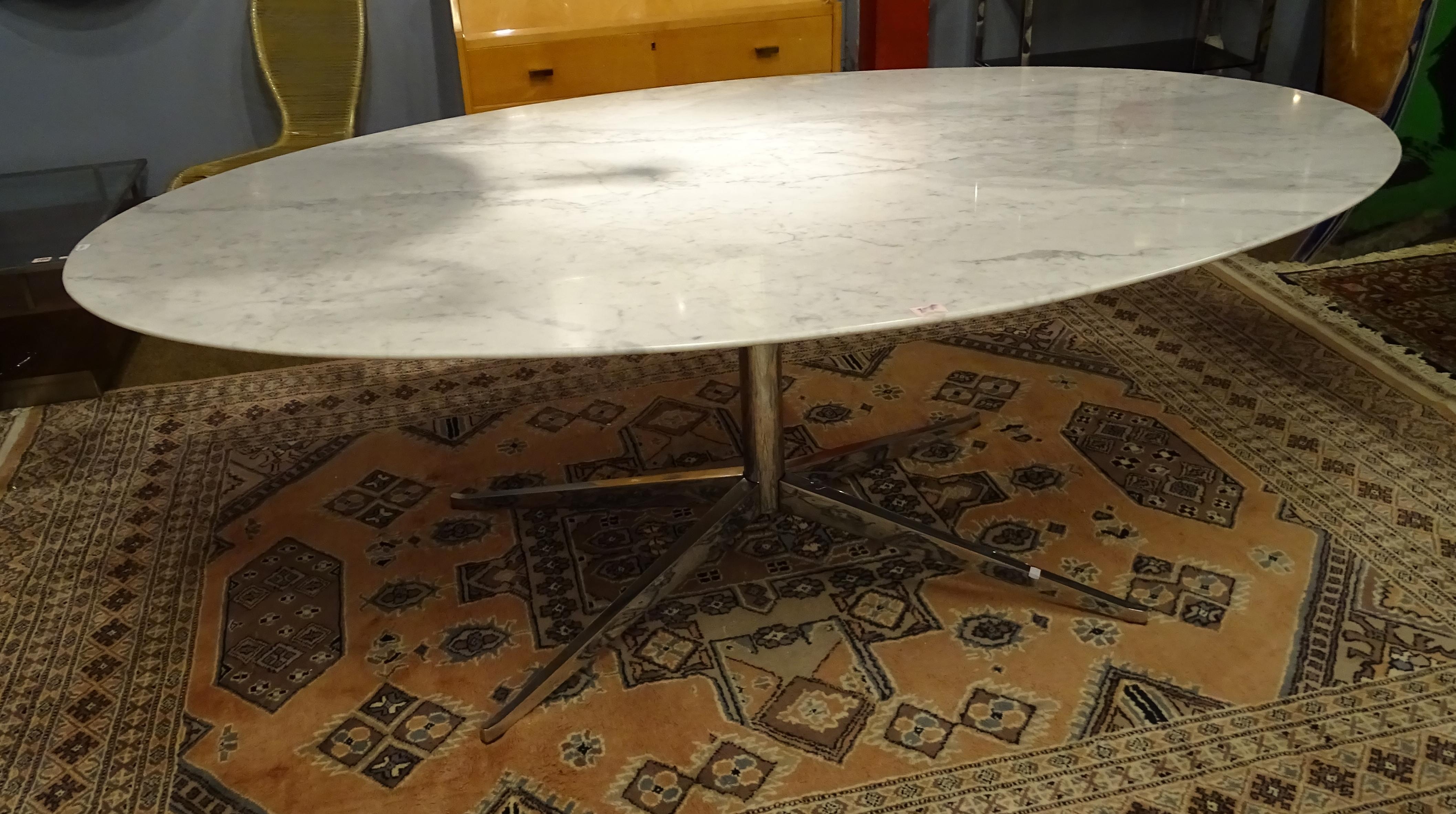 Meuble Vintage Table Design Ovale Knoll Florence