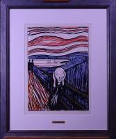Estampe: Sérigraphie couleur -The Scream- n° 125/2000 MUNCH Edvard